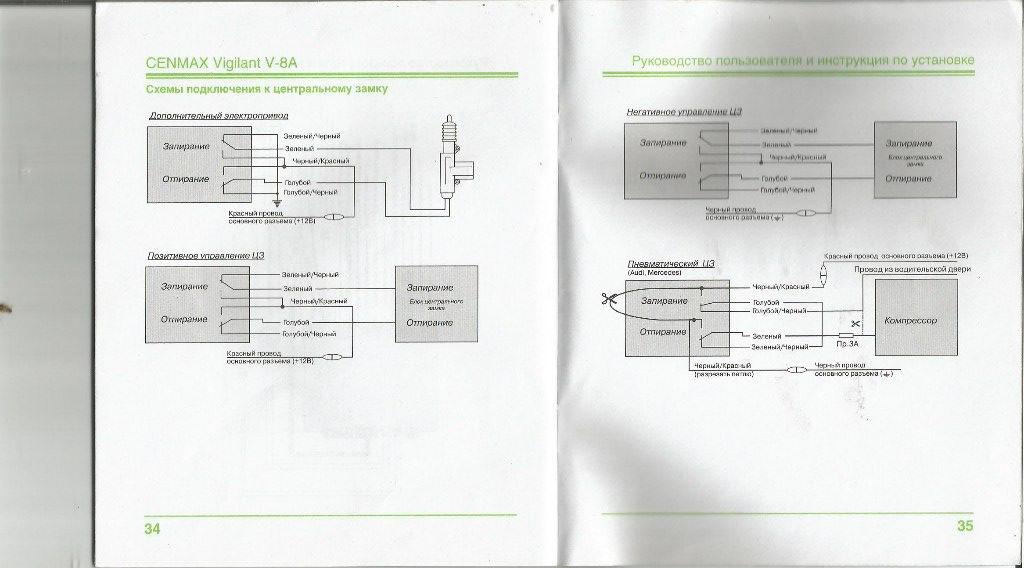 сигнализацию cenmax v-8a.